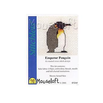 Emperor Penguin Stitchlets Counted Cross Stitch Kit