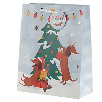Dachshund Through the Snow Large Christmas Gift Bag