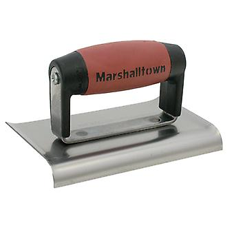 Marshalltown M136D Cement Edger Curved End Durasoft Handle 6 x 3in M/T136D