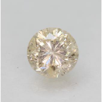 Cert 1.00 Karat Vaalea Kellertävä Oranssi SI2 Pyöreä Brilliant Natural Diamond 6,1mm
