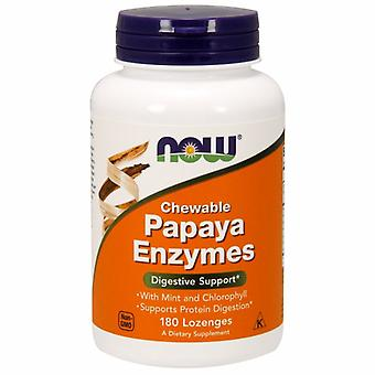 Now Foods Papaya Enzyme Chewable, 180 Lozenges