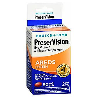Bausch And Lomb Preservision Eye Vitamin And Mineral Supplements Lutein Softgels, 50 sgels