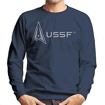 U.S. Space Force Logo Alongside USSF Text Men's Sweatshirt