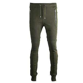 Balmain Biker Green Sweat Pants