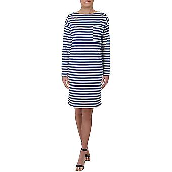 Lauren av Ralph Lauren | sharine bomull båt hals skift kjole