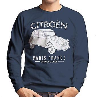 Citro?n Driving Club White 2CV Paris France Men's Sweatshirt