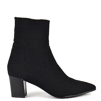 Ash CHARLOTTE Sock Boots Black Knit