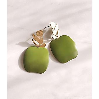 Boucle d'oreille légère en forme de pomme en laiton