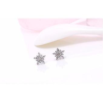 Pendiente de sementales, flor de hielo zircón super brillante de moda