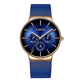 Lige Luxury Watch Men - Anologue Quartz Movement for Men Blue