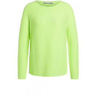 Oui Neon Ribbed Knit Jumper