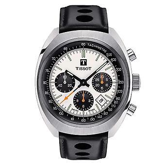 Tissot T1244271603100 Mænd's Heritage 1973 Sort Læder Watch