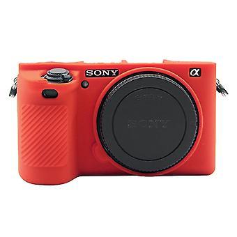 PULUZ Mäkké silikónové ochranné puzdro pre Sony ILCE-6500 (červená)