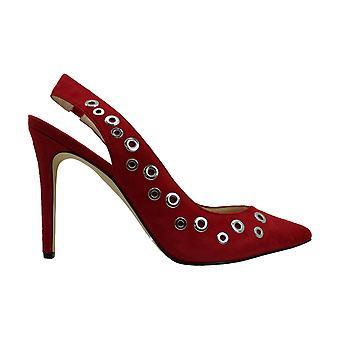 Nine West Womens Tatin Leather Pointed Toe SlingBack Classic Pumps