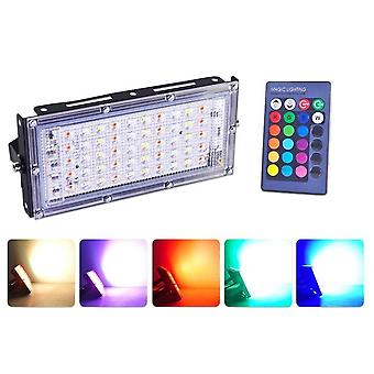 Rgb Led Floodlight Remote Control Cob Chip Led Street Lamp Ac220v 240v