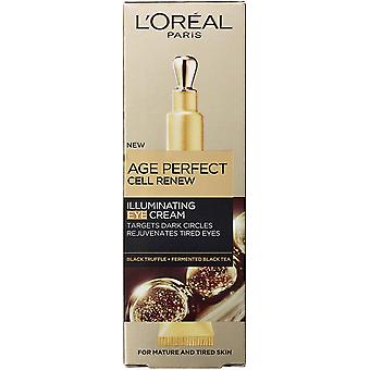 3 x L'Oreal Paris Age Perfect Cell Renew Illuminating Eye Cream 15ml