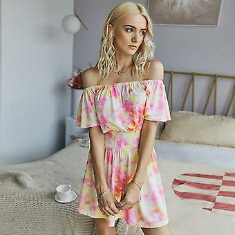 Off Shoulder Tie-dye Printed Romper