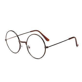 Vintage Gläser Runde Metall Rahmen Augengläser, Spiel Augenschutz Glas