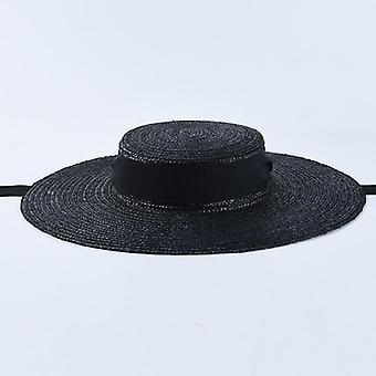 Ribbon Tie Wind Rope Design Summer Floppy Hat
