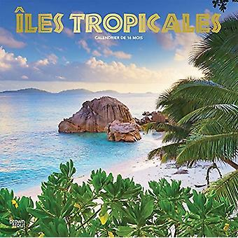 Iles Tropicales 2021 Square French Btca Calendar by Browntrout