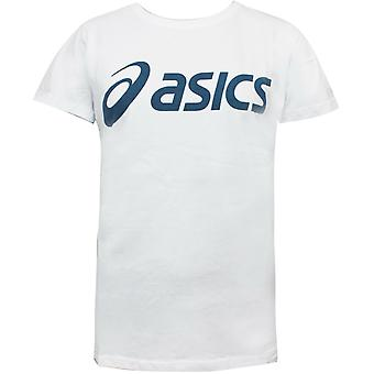 Asics Mens Sport Logo Tee Training Essentials Casual T-Shirt White 2031B061 100