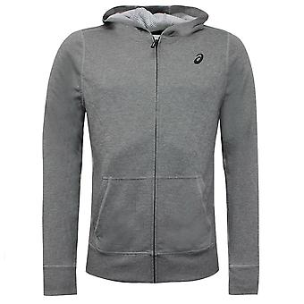 Asics Mens Tech Zip Up Sweatshirt Gris Sweat-shirt Hoodie 140926 0718