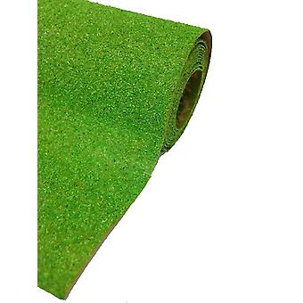 Dolls House Mid Green Grass Lawn Garden Landscape Mat Large
