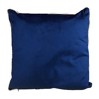 Deep Blue Velvet Cushion