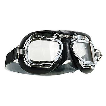 Halcyon Goggles MK410 Deluxe Leather Curved Lens
