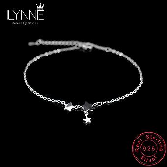 Three Stars Pendant Anklet