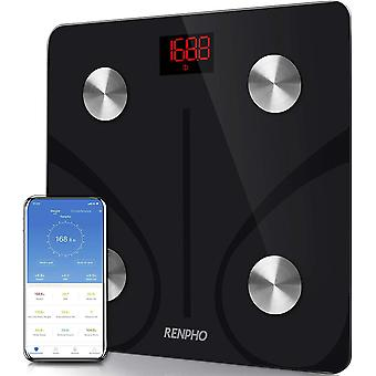 RENPHO Body Fat Scale Bluetooth, Digital Body Weight Bathroom Scales Weighing Scale , Black