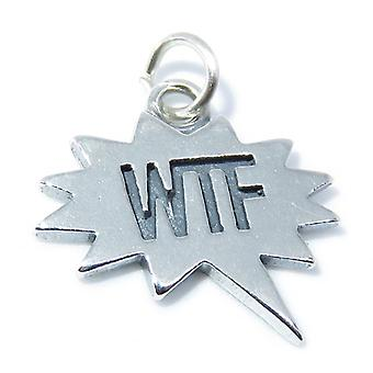 Wtf Sterling Silver Charm .925 X 1 .925 X 1 Speech Bubble Text Charms - 8301