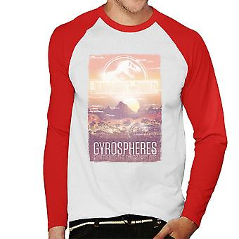 Jurassic Park Gyrospheres Experience The Dinos Upclose Men's Baseball Long Sleeved T-Shirt