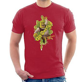 Shrek Go Green Alle andre er mænd's T-shirt