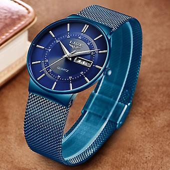 Lige Quartz Movement Men - Anologue Luxury Watch for Men Blue