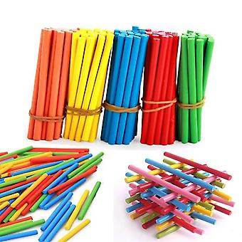 Colorful Bamboo Counting Sticks Mathematics Teaching Aids Counting Rod Kids