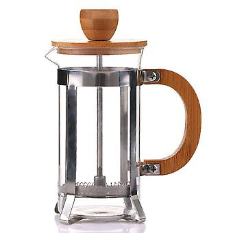 Filtration Coffee Maker Glass Pot 350ml Wooden Cover High Grade Elegant Durable