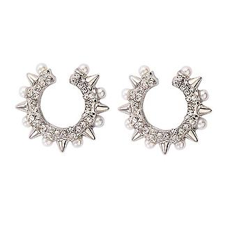 Trendy Pearl Clip On Earrings Earcuffs