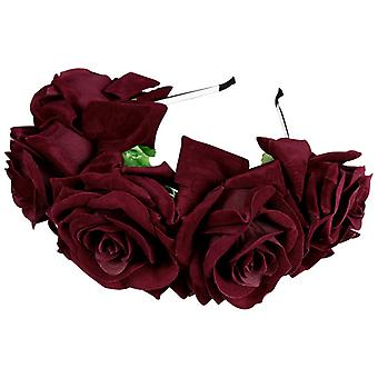 Elegante bandana de flor de rosa charmosa para banquete de casamento