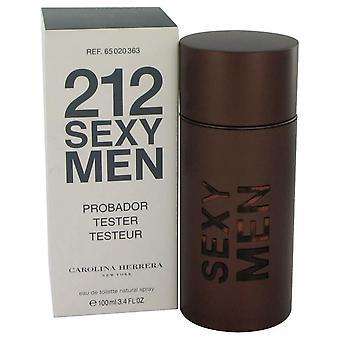212 sexy Eau De Toilette vaporizador (probador) por Carolina Herrera 3.3 oz Eau De Toilette Spray