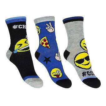 3 Paar Emoji Socken
