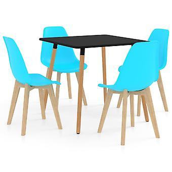5 Piece Dining Set Blue