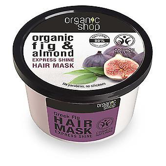 Organic Shop Mascarilla Capilar Brillo Expreso de Higo y almendras 250 ml