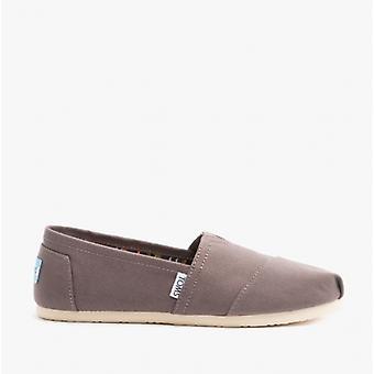 TOMS Alpargata Ladies Canvas Casual Shoes Ash