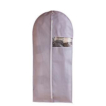 Hängande klädväskor, vattentäta dammtäta klädväskor med dragkedja, PEVA Frosted Coat Dust Bag Hushåll