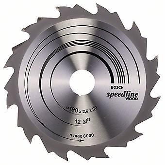 Bosch 2608640800 190 X 2.6 X 30/12 Speedline Wood Circular Saw Blade Hand
