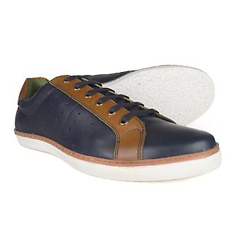 Silver Street London Gower Mens Navy Leather Casual Shoes