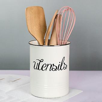 Scandinavian rustic style kitchen utensil storage organizer