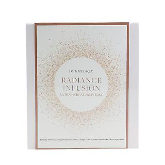 Radiance infusion ultra hydrating ritual set: ha rejuvenating hydrator 28.4g + ultra hydrating sheet mask 2pcs + rose quartz roller 211676 4pcs