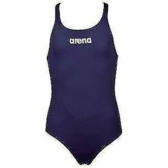 Arena Solid Swim Pro Swimsuit Womens Open Back Athletic Swimming Costume
